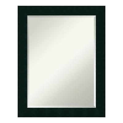Tribeca Black Wood 22 in. x 28 in. Contemporary Bathroom Vanity Mirror