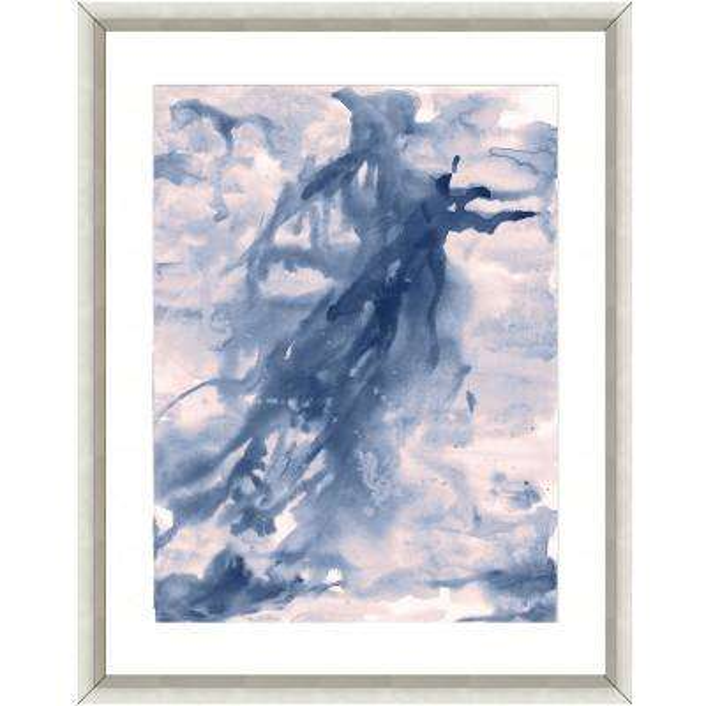 """""""Seafoam watercolor II"""" Framed Archival Paper Wall Art (26 in. x 32 in. Full Size)"""