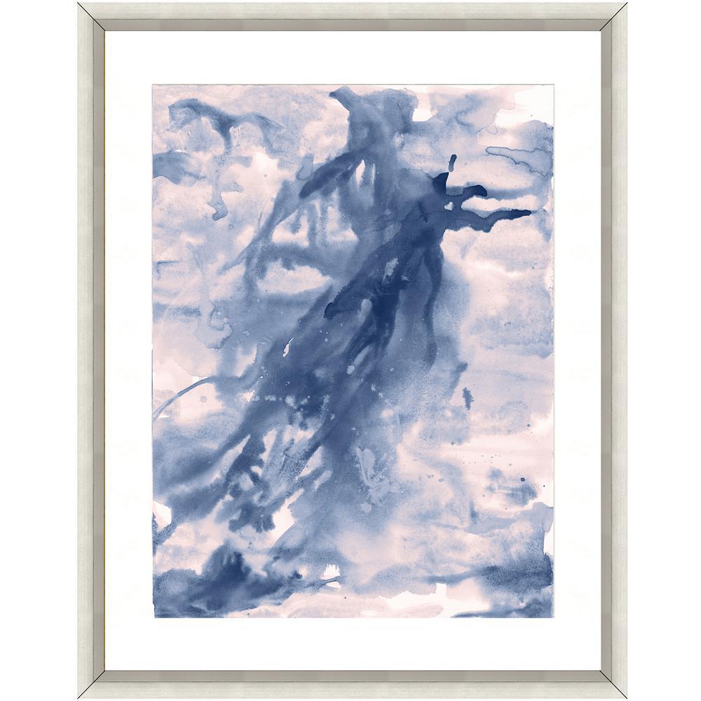 """""""Seafoam watercolor II"""" Framed Archival Paper Wall Art (24 in. x 28 in. in Full Size)"""