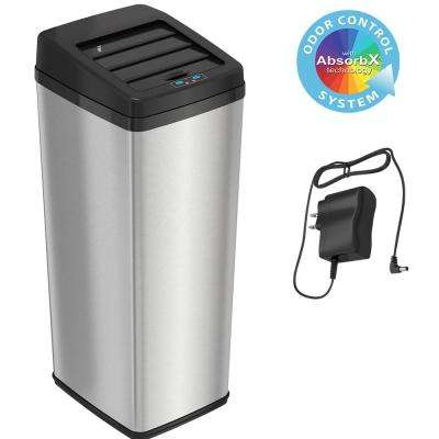14 Gal. Stainless Steel Sliding-Lid Motion Sensing Touchless Trash Can