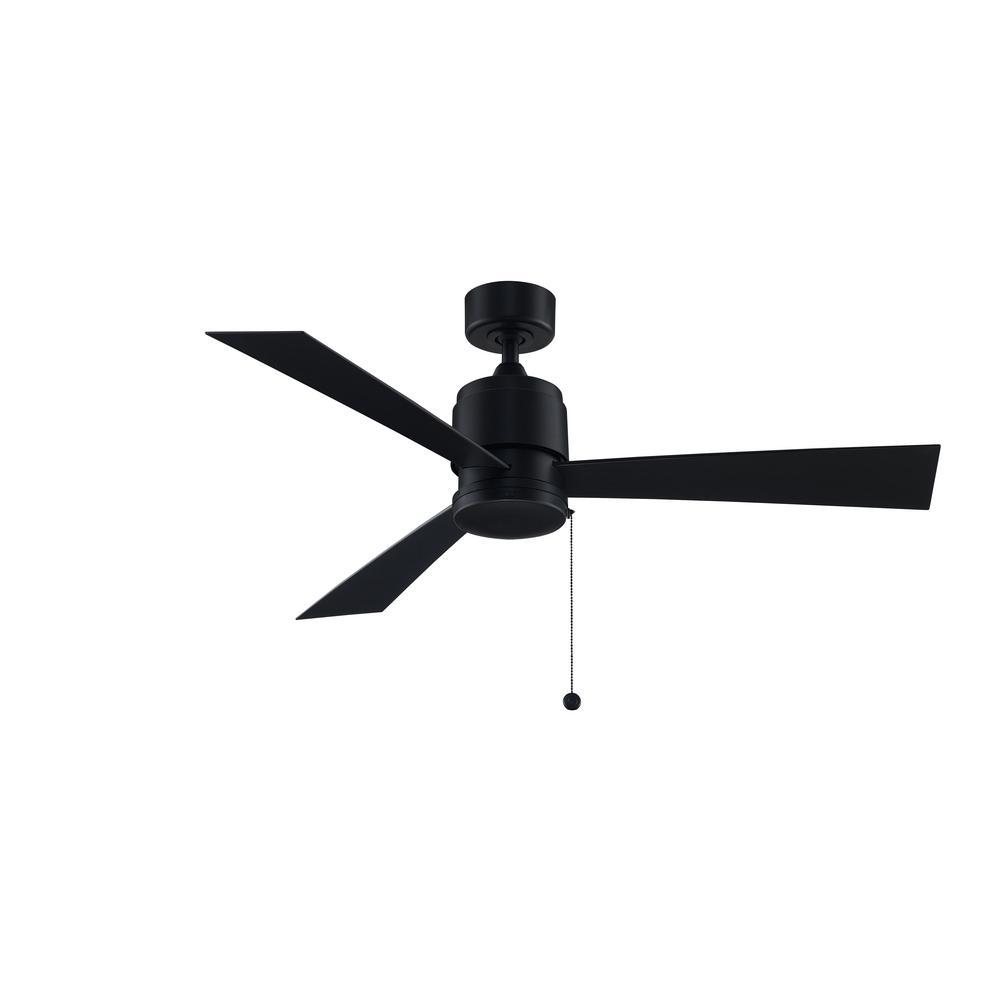 Zonix Wet 52 in. Indoor/Outdoor Black Ceiling Fan with Black Blades