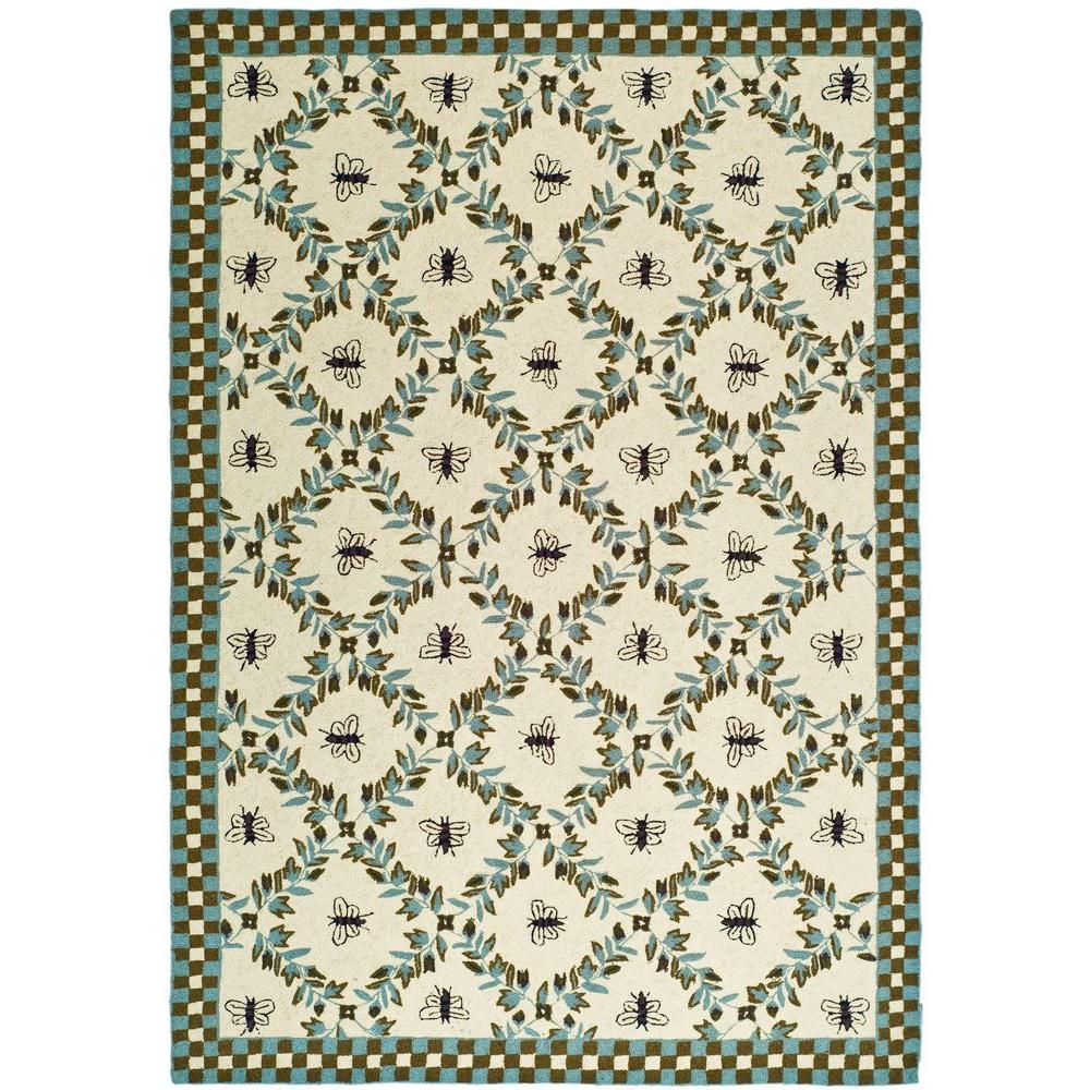 Chelsea Ivory/Teal 6 ft. x 9 ft. Area Rug