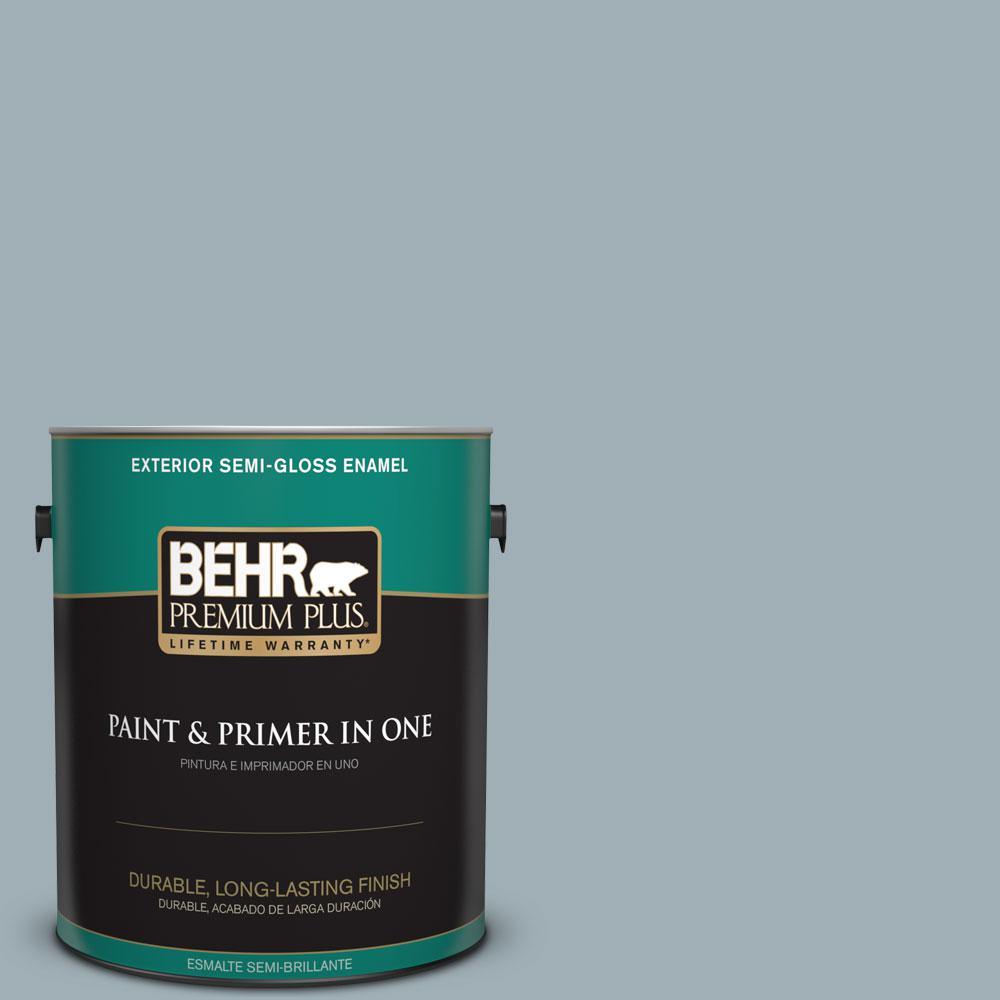 1-gal. #ECC-22-2 Bay View Semi-Gloss Enamel Exterior Paint