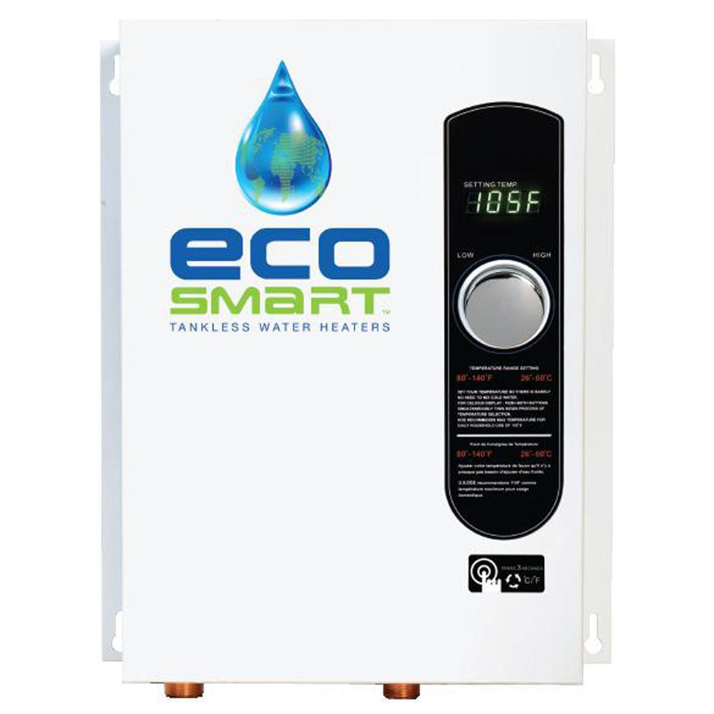 EcoSmart 18 kW Self-Modulating 3.5 GPM Electric Tankless ...