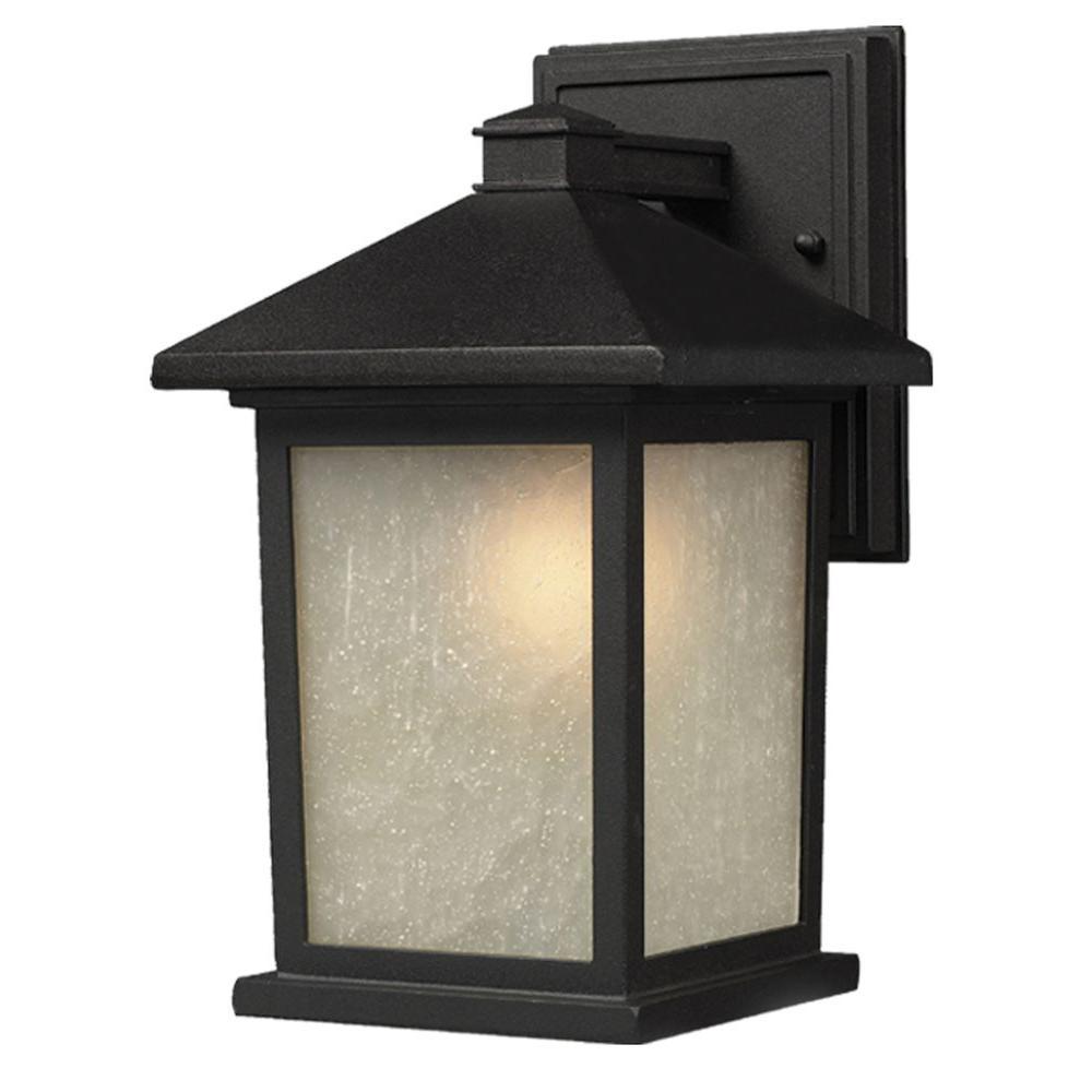 Filament Design Lawrence 1-Light Black Incandescent Outdoor Wall Light