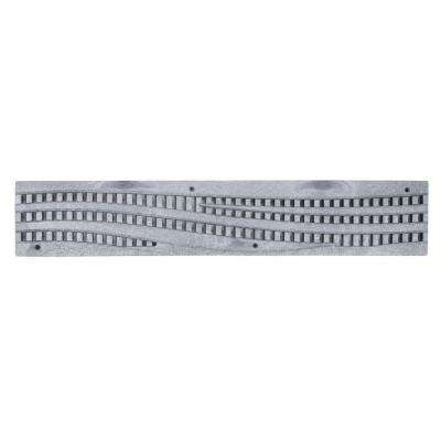 NDS 2 ft. Plastic Spee-D Channel Decorative Wave Grate in Gray