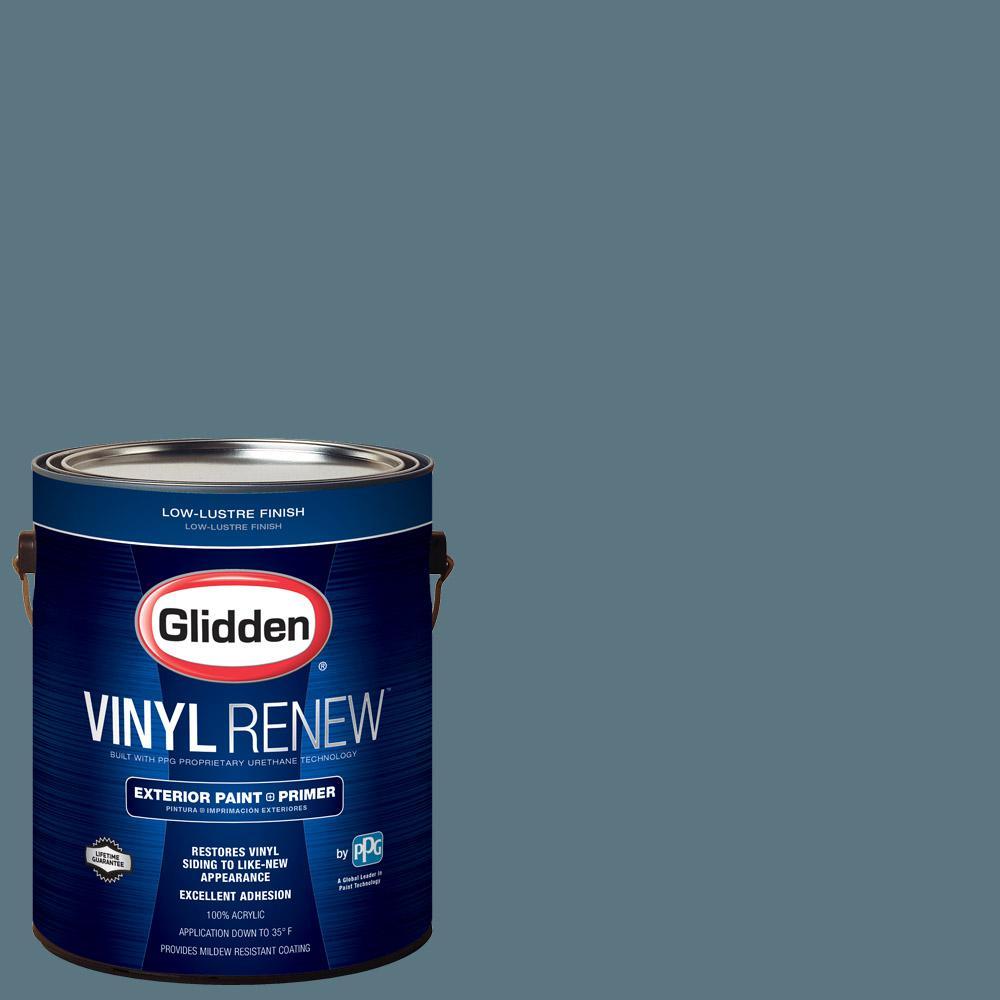 1 gal. #HDGB52 Village Blue Low-Lustre Exterior Paint with Primer