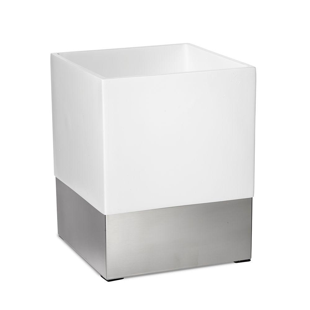 Roselli Trading Company Suites 10 in  Wastebasket in Resin and Stainless  Steel