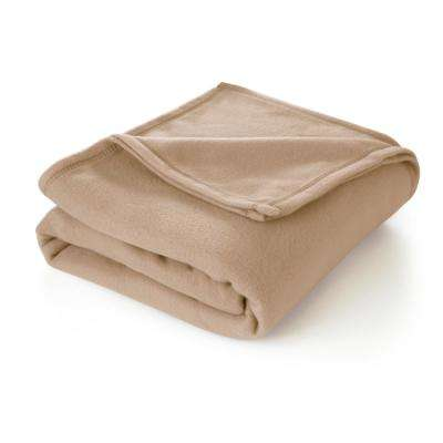 Supersoft Fleece Linen Polyester Full/Queen Blanket