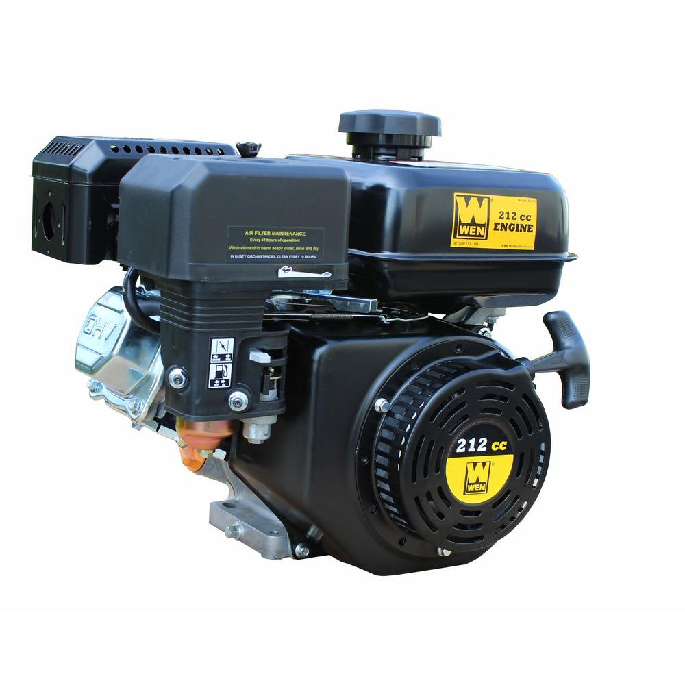 WEN 212cc Horizontal Shaft Gas Engine