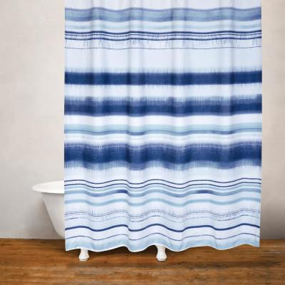 Skye Moves 71 in. x 71 in. Blue Shower Curtain