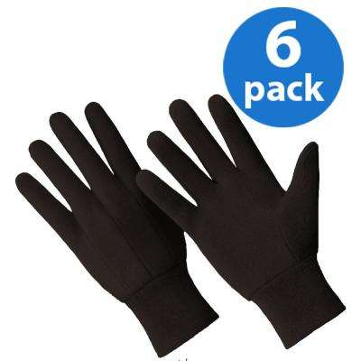 All Purpose Brown Jersey 6-Pair Value Pack Cotton/Poly