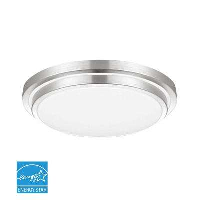 100-Watt Silver Integrated LED Flushmount