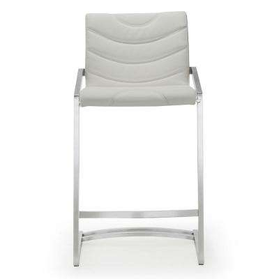 26 in. Rio Light Grey Steel Counter Stool (Set of 2)