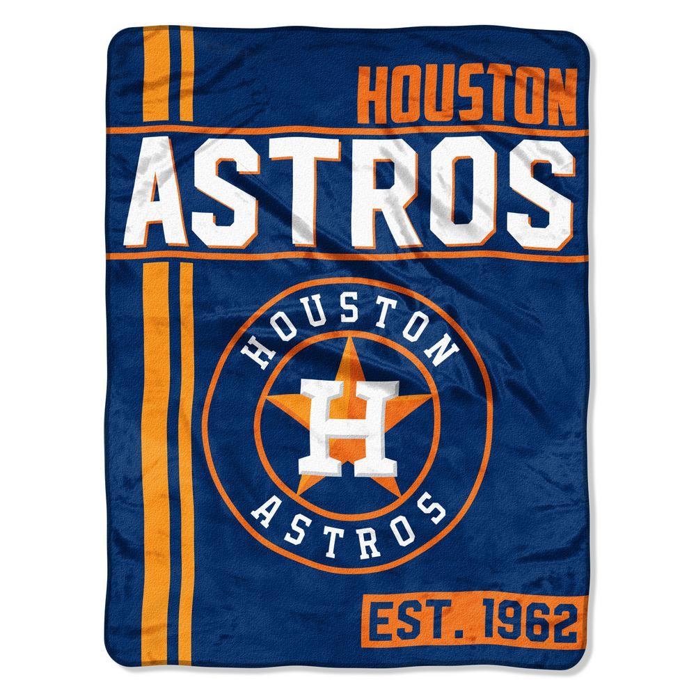 Houston Astros Polyester Throw Blanket