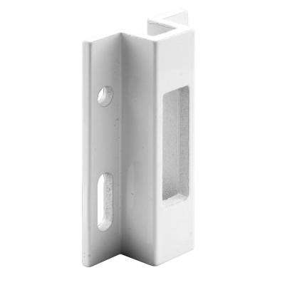 White Extruded Aluminum Sliding Door Lock Keeper