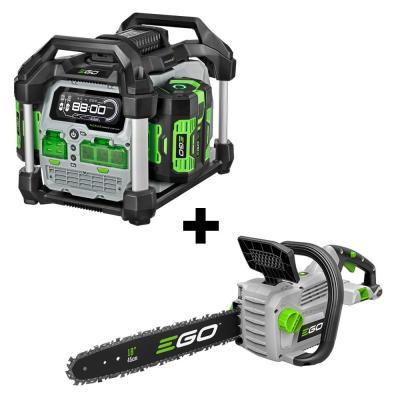 Nexus 3000-Watt 56V Lith-Ion Power Station Portable Generator & 18 in. Chainsaw Combo (2-Tools) Two 7.5 Ah Batteries