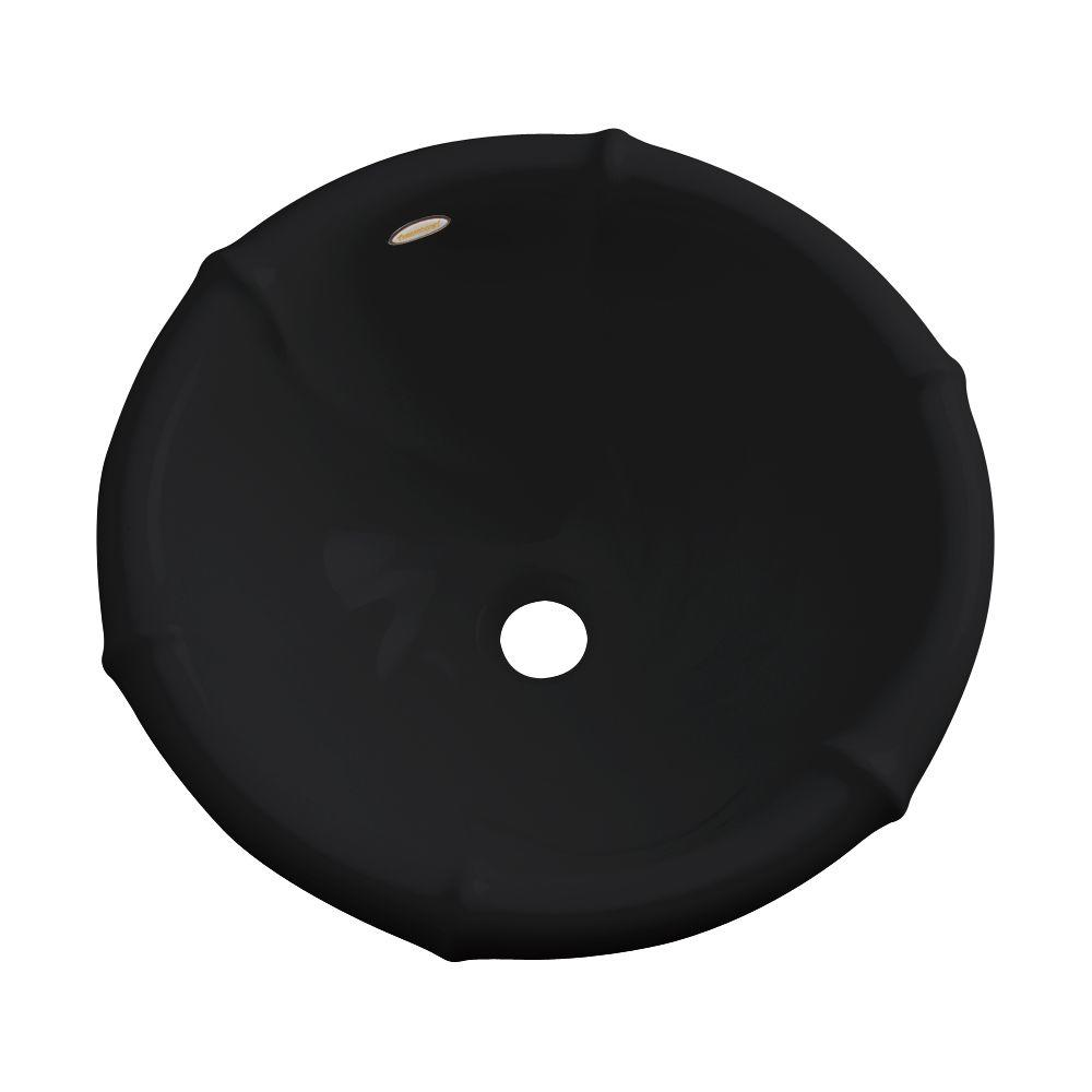 null Waverly Drop-In Bathroom Sink in Black