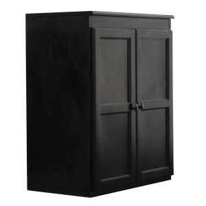 Wood Kitchen Pantry Cabinet, 36 in. with 2 Shelves, Espresso Finish