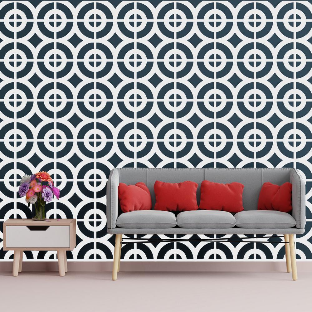 3/8 in. x 15-3/4 in. x 15-3/4 in. Medium Sullivan White Architectural Grade PVC Decorative Wall Panels