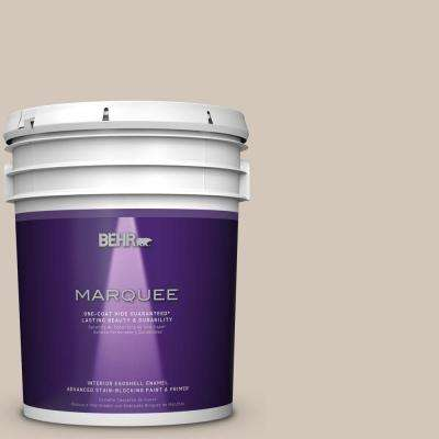 5 gal. #MQ2-50 Gravelstone Eggshell Enamel One-Coat Hide Interior Paint and Primer in One