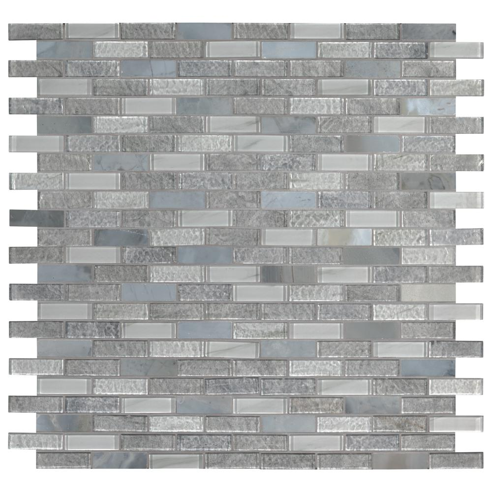 MSI Lupano 11.63 in. x 11.72 in. x 8 mm Textured Glass Stone Blend Mesh-Mounted Mosaic Tile (9.5 sq. ft. / case)