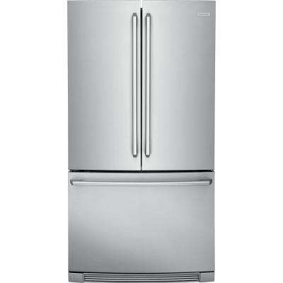 36 in. W 22.3 cu. ft. French Door Refrigerator in Stainless Steel, Counter Depth