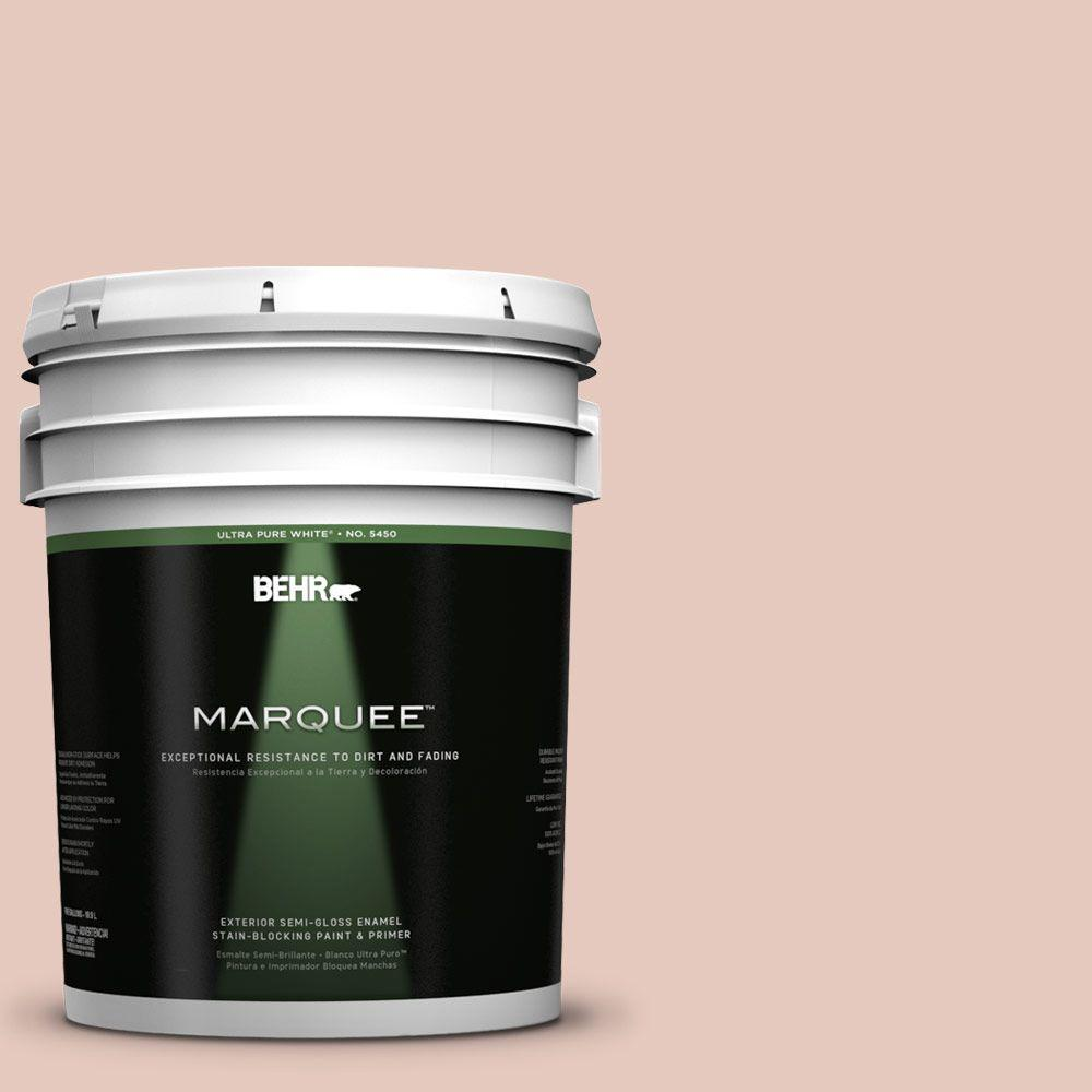 BEHR MARQUEE 5-gal. #210E-3 Almond Willow Semi-Gloss Enamel Exterior Paint