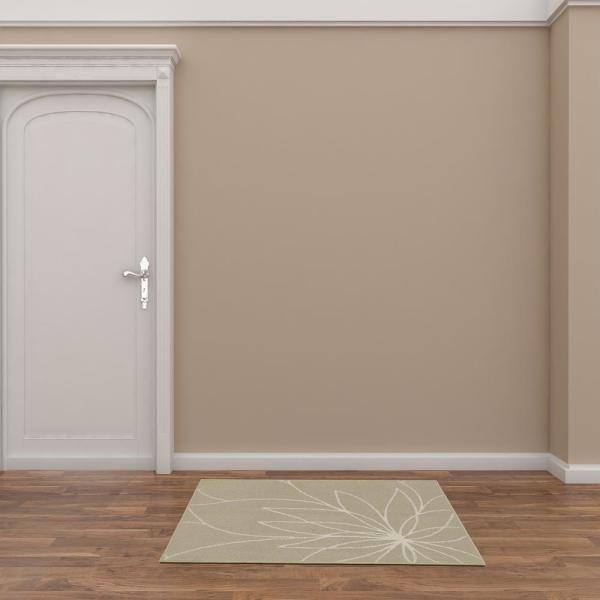 Reviews For Garland Rug Grand Floral Tan Ivory 3 Ft X 4 Ft Area Rug Ll460w030046g3 The Home Depot