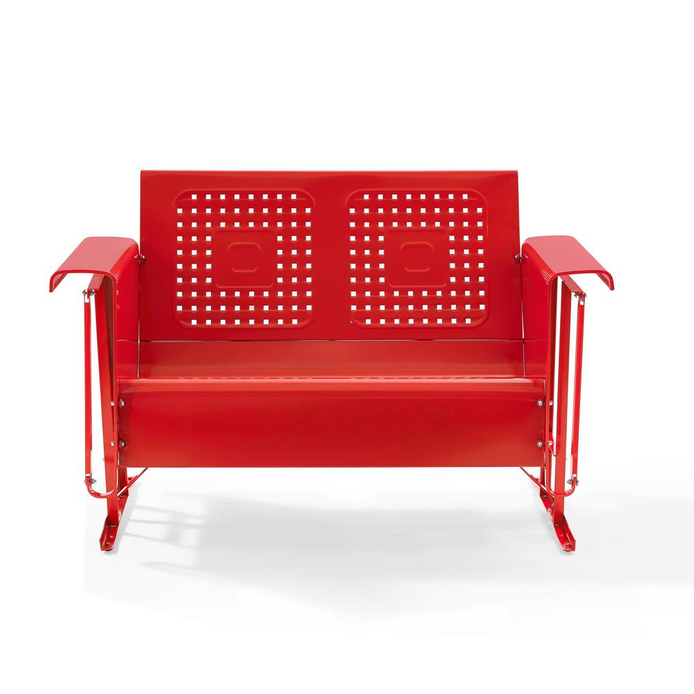 Brilliant Crosley Bates 2 Person Red Metal Outdoor Glider Onthecornerstone Fun Painted Chair Ideas Images Onthecornerstoneorg