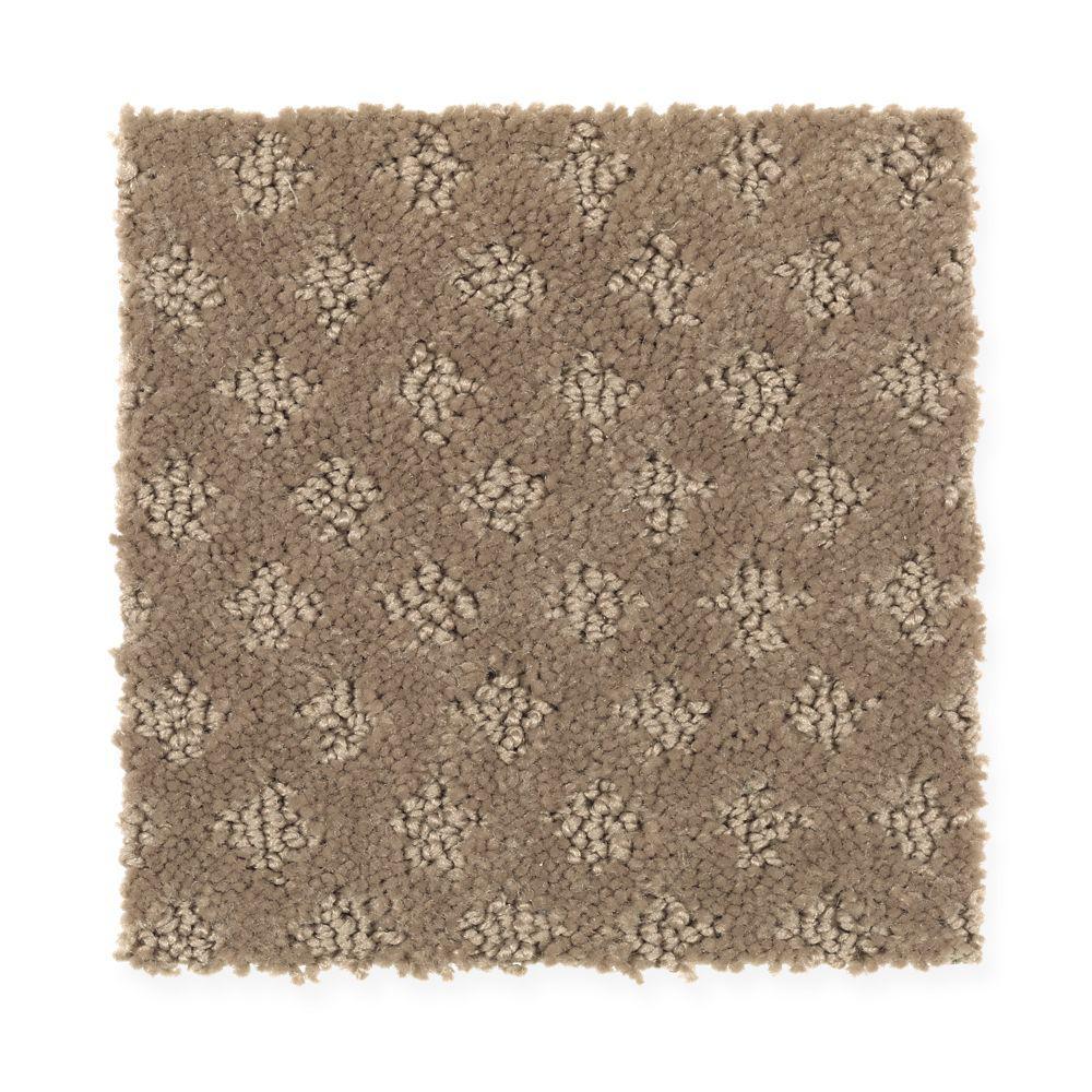 Carpet Sample - Fast Walk - Color Driftwood Loop 8 in. x 8 in.