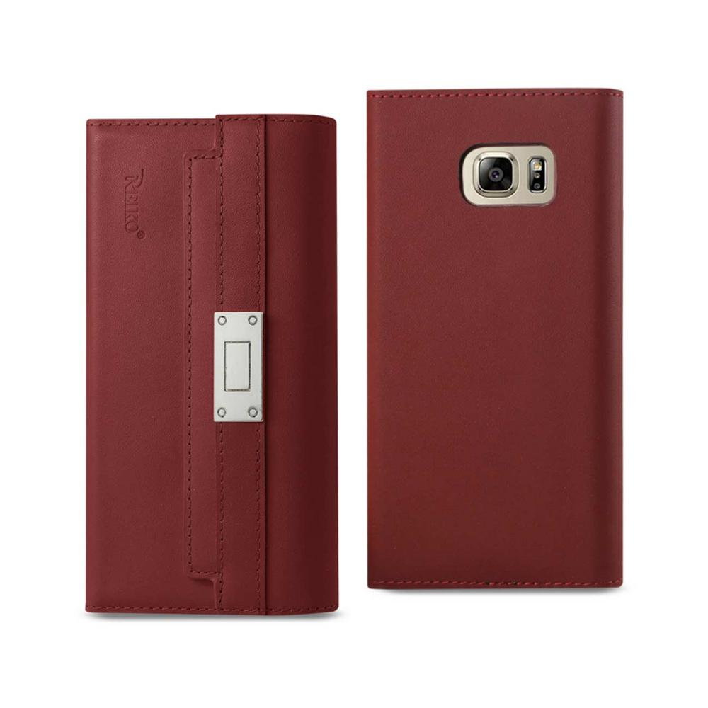 Galaxy Note 5 Genuine Leather Design Case in Burgundy
