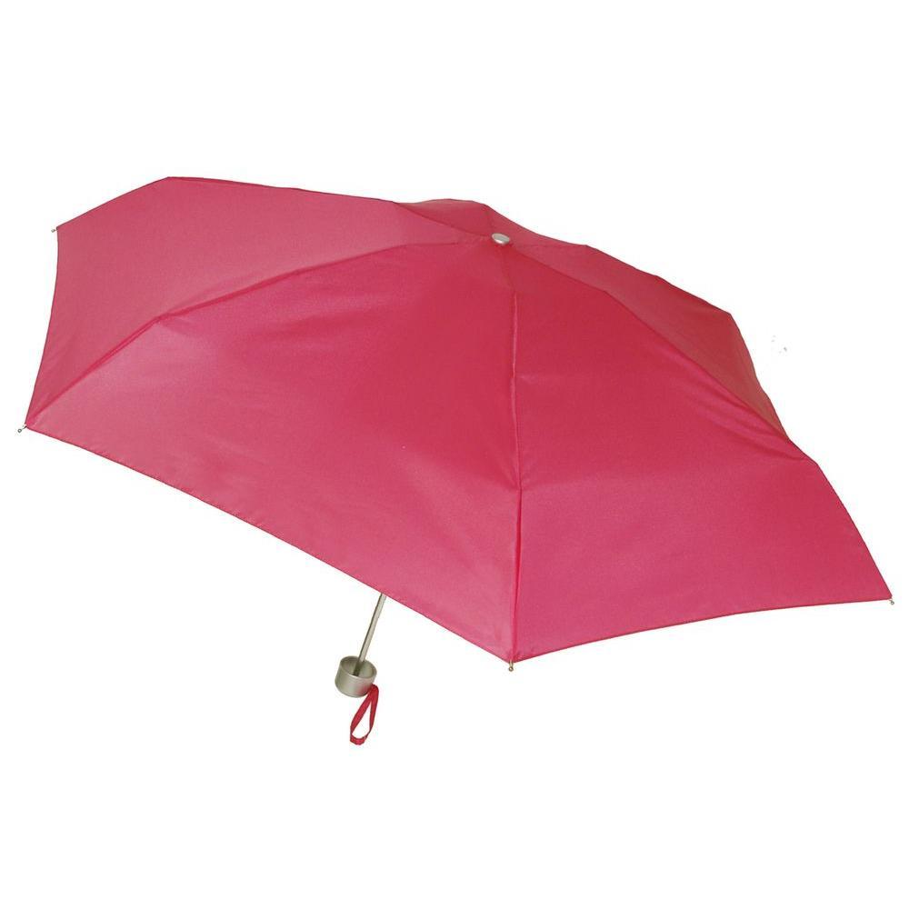 40 in. Arc Ultra Mini Manual Umbrella in Fuchsia