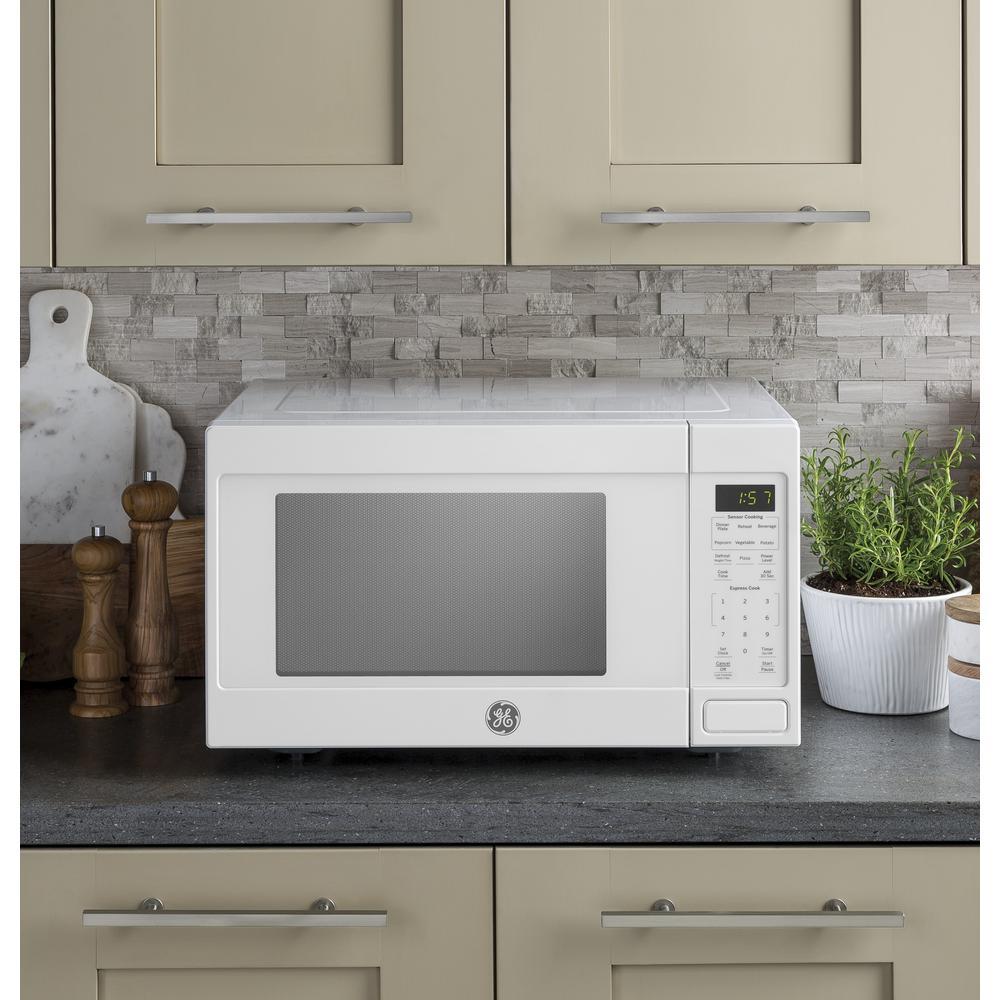 Ge 1 6 Cu Ft Countertop Microwave In