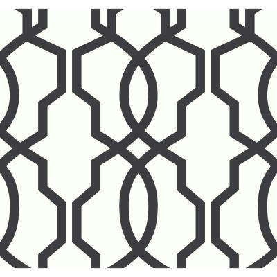 Ashford House Hourglass Trellis Wallpaper
