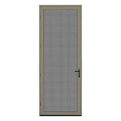 36 in. x 96 in. Desert Sand Surface Mount Left-Hand Meshtec Ultimate Screen Door