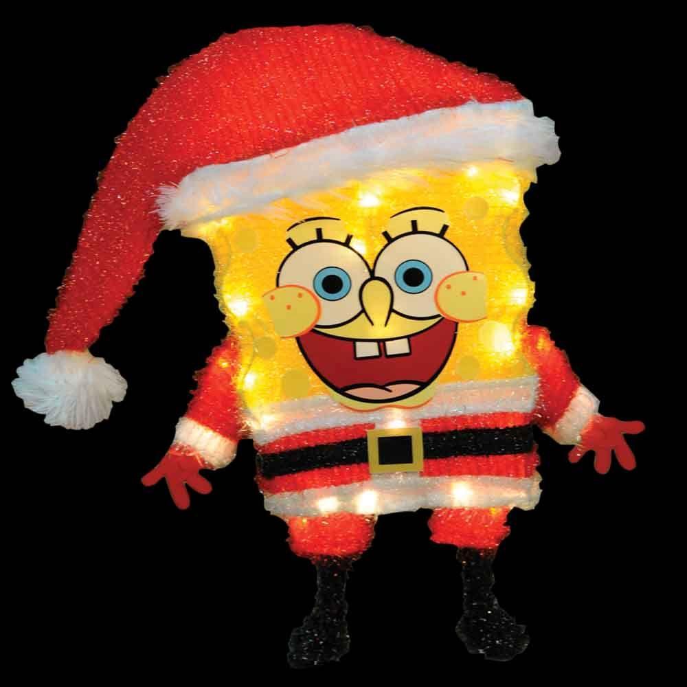 Nickelodeon 18 in. 3D Soft Tinsel SpongeBob in Santa Suit