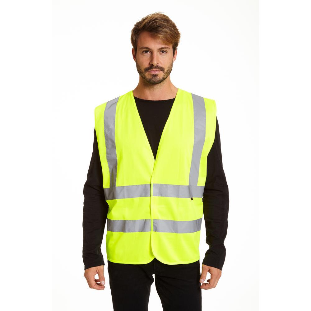 Men's M/L Yellow Hi Vis Safety Vest