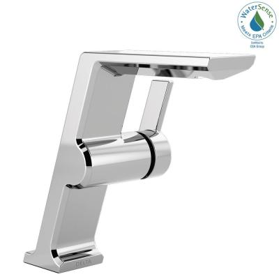 Pivotal Mid-Height Single Hole Single-Handle Bathroom Faucet in Chrome