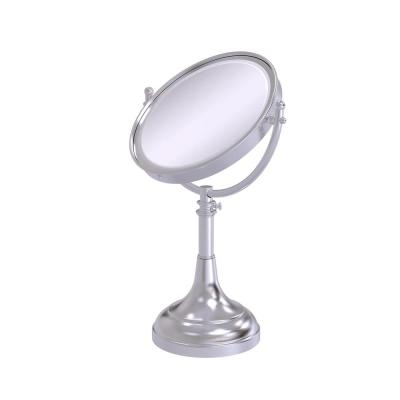 8 in. x 23.5 in. x 5 in. Vanity Top Makeup Mirror 2X Magnification in Satin Chrome
