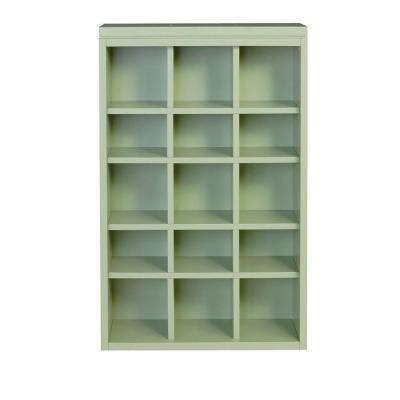 Craft Space 34 in. x 21 in. Rhododendron Leaf 15-Cubbies Open Wall Mounted Storage