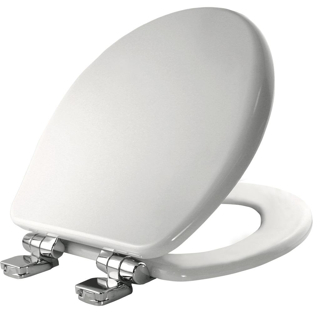Church Round Closed Front Toilet Seat In White 8170chsl