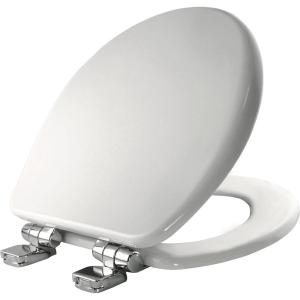 Church Round Closed Front Toilet Seat in White by Church