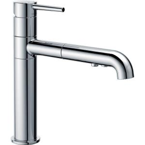 trinsic pullout sprayer kitchen faucet in chrome