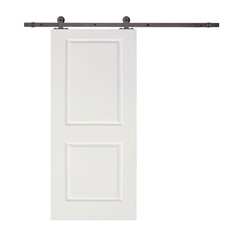 Calhome Top Mount Sliding Door Track Hardware And 36 In White