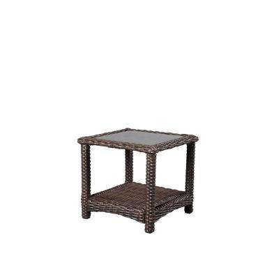 22 in. Mill Valley Square Outdoor Patio Accent Table