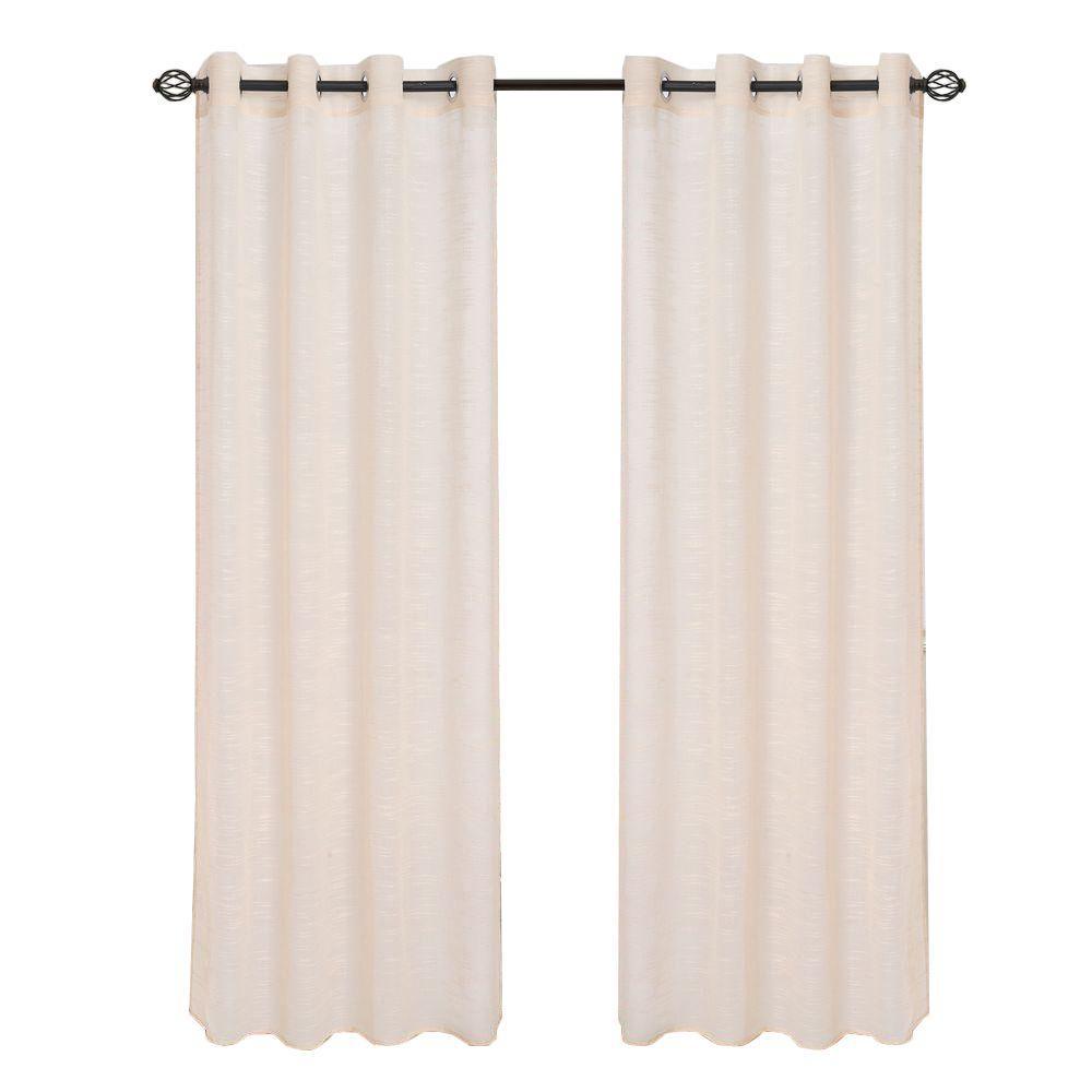 Mia Jacquard Grommet Curtain Panel