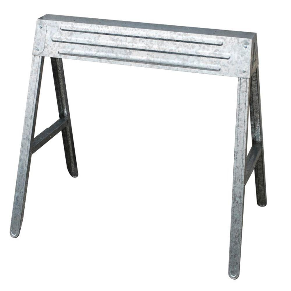 HDX 1-Compartment Folding Steel Sawhorse