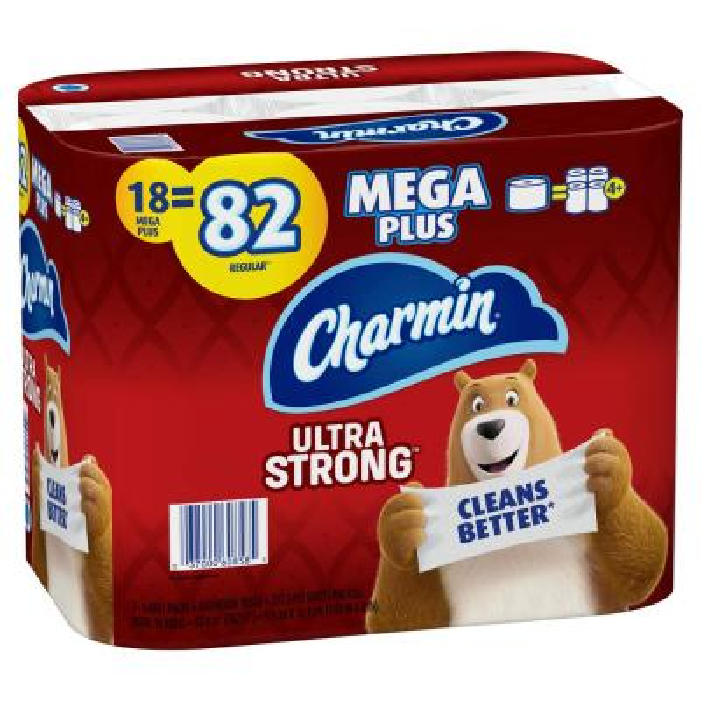 Ultra-Strong Toilet Paper (18-Mega Plus Rolls)