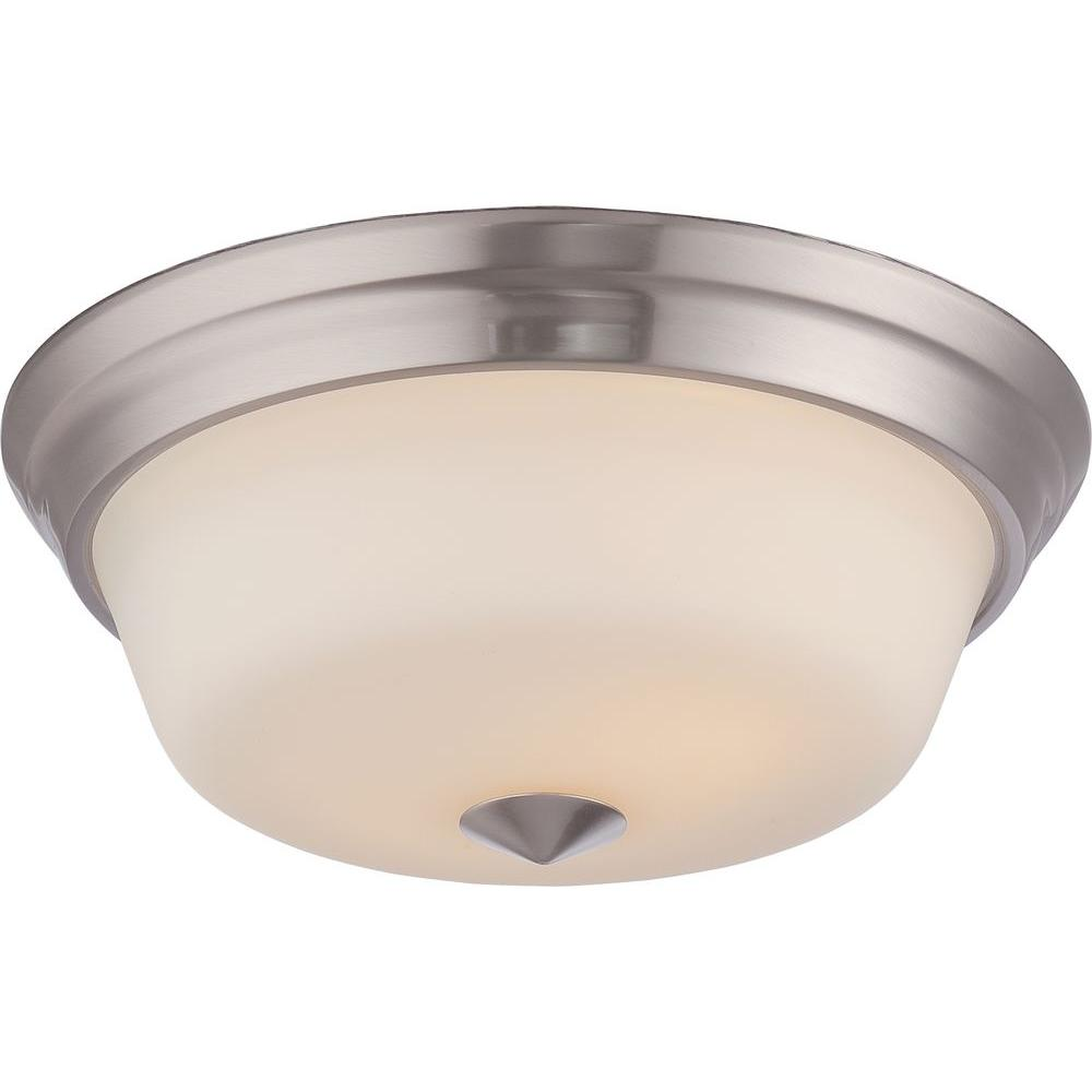 Bailey 2-Light Brushed Nickel Flushmount